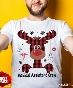 Awesome Reindeer Dispatcher Medical Assistant Crew Christmas Shirt - Design By Rulestee.com