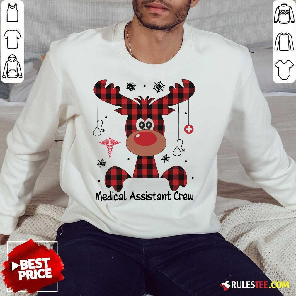 Awesome Reindeer Dispatcher Medical Assistant Crew Christmas Sweatshirt - Design By Rulestee.com