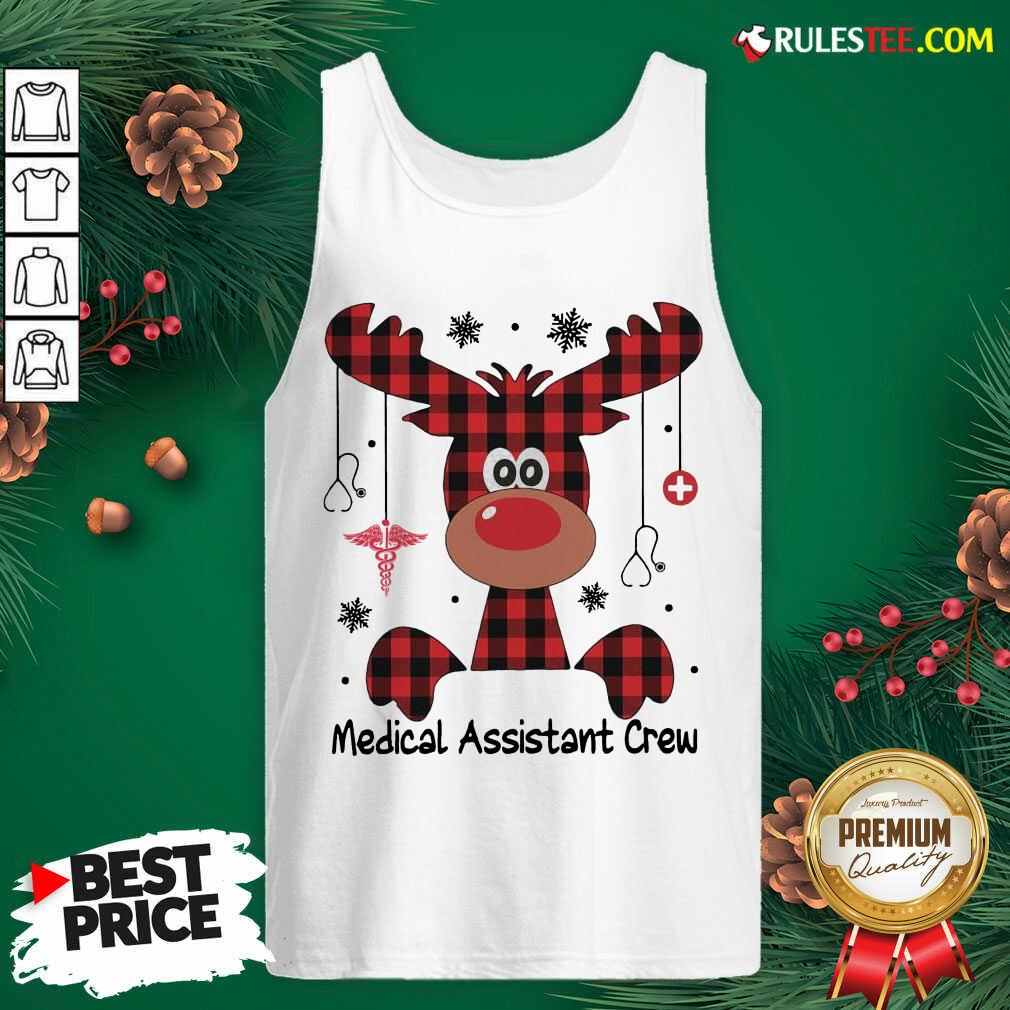 Awesome Reindeer Dispatcher Medical Assistant Crew Christmas Tank Top - Design By Rulestee.com