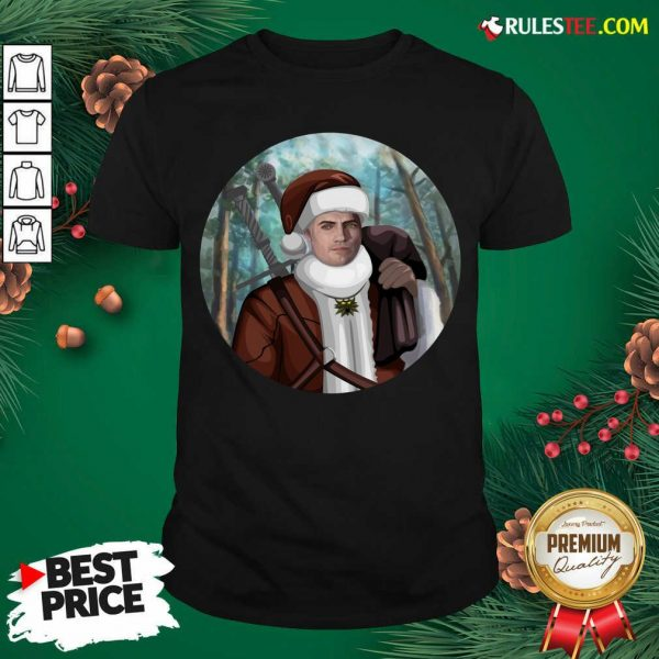 Awesome The Witcher Santa Crewneck Shirt - Design By Rulestee.com