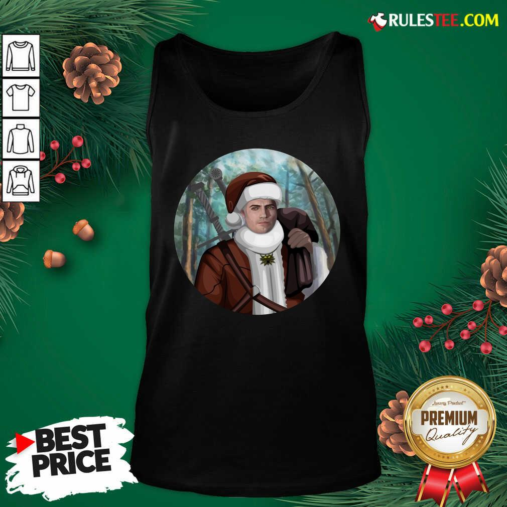 Awesome The Witcher Santa Crewneck Tank Top  - Design By Rulestee.com