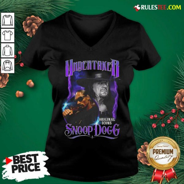 Awesome Undertaker Original Icons Snoop Dogg V-neck - Design By Rulestee.com