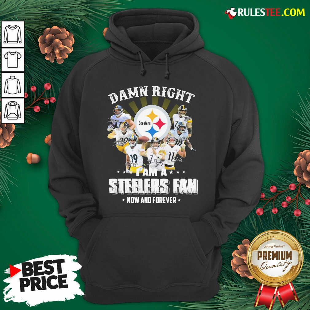Best So Damn Right I Am A Pittsburgh Steelers Fan Now And Forever Signature Hoodie - Design By Rulestee.com