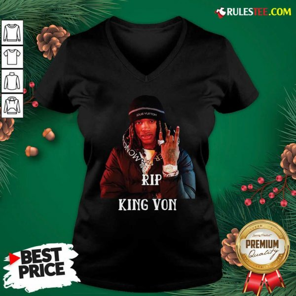 Cool Rip King Von 1994-2020 V-neck - Design By Rulestee.com