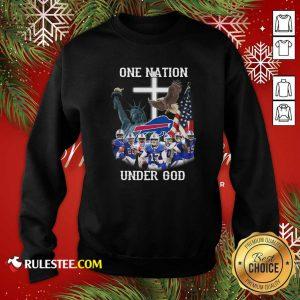 Buffalo Bills One Nation Under God American Flag Sweatshirt - Design By Rulestee.com