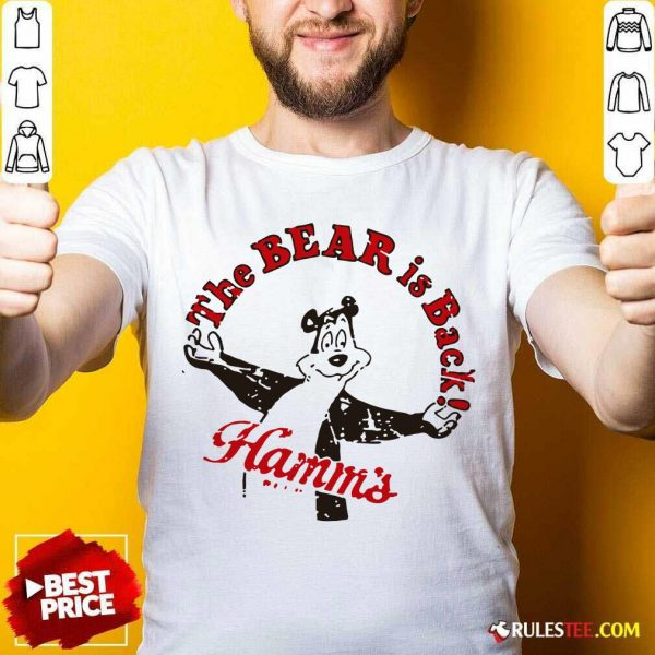 Cool Retro Hamm's Beer Bear Is Back Shirt - Design By Rulestee.com
