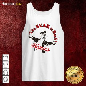 Cool Retro Hamm's Beer Bear Is Back Tank Top - Design By Rulestee.com