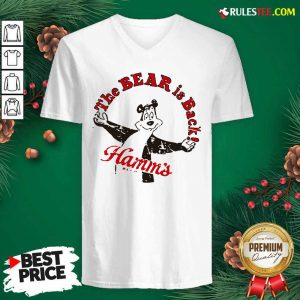 Cool Retro Hamm's Beer Bear Is Back V-neck - Design By Rulestee.com