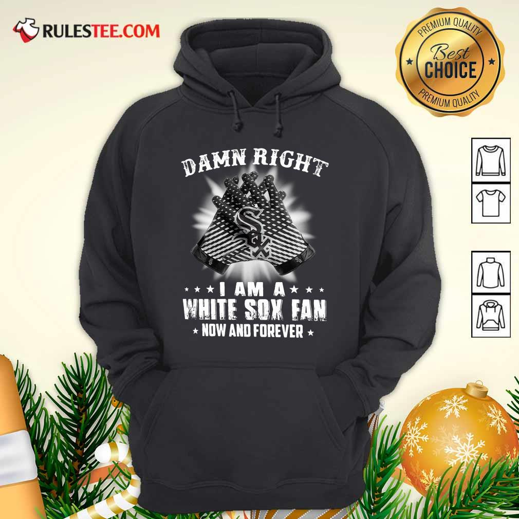 Damn Right I Am A White Sox Fan Now And Forever Stars Hoodie - Design By Rulestee.com