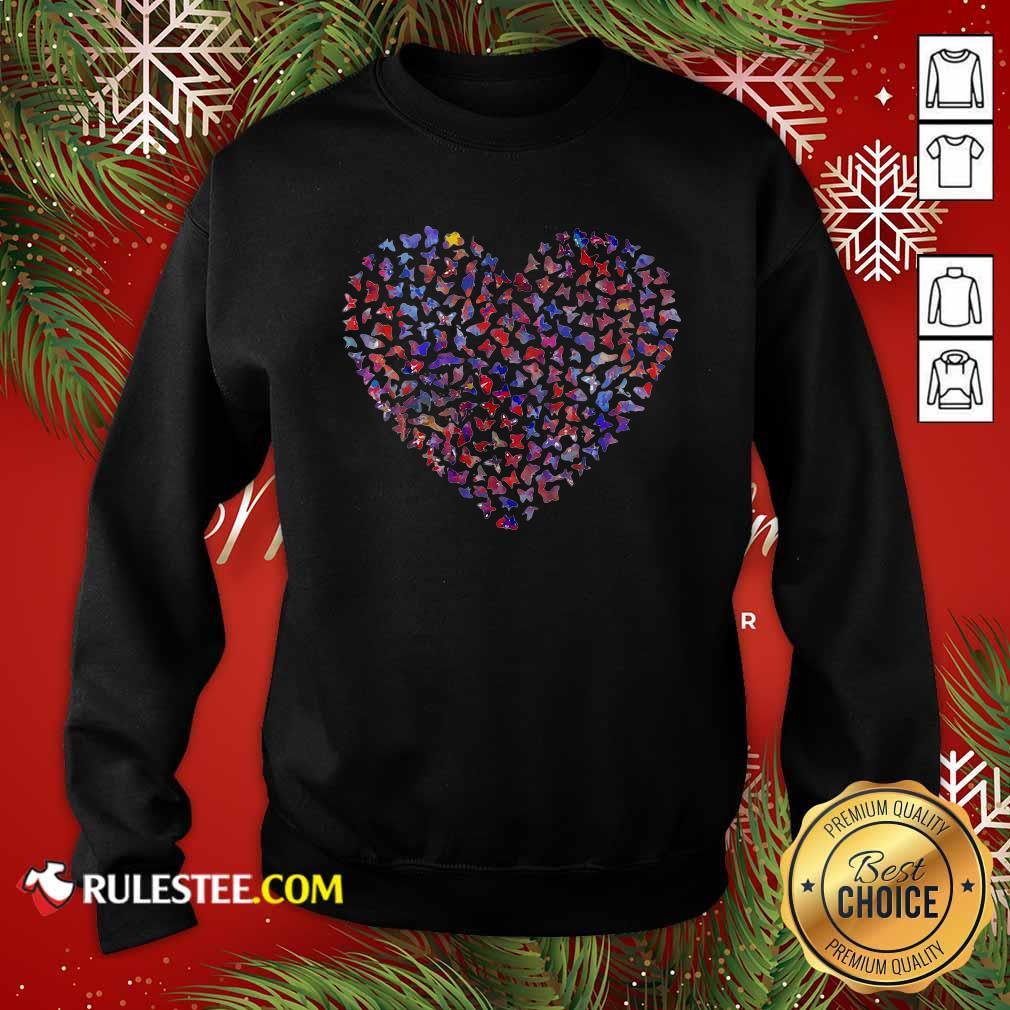 Heart Butterfly Sweatshirt - Design By Rulestee.com