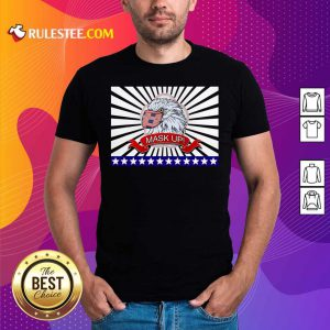 Mask Up Fun And Patriotic Bald Eagle American Flag Shirt - Design By Rulestee.com