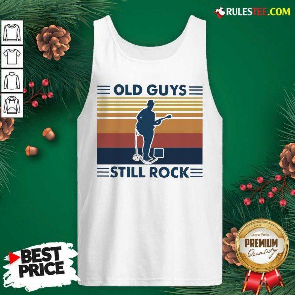 Old Guys Still Rock Vintage Retro Tank Top - Design By Rulestee.com