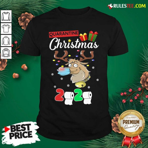 Reindeer Santa Claus Mask 2020 Toilet Paper Quarantine Christmas Shirt- Design By Rulestee.com