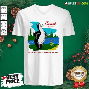 Hamm's Beer From The Land Of Sky Blue Waters V-neck - Design By Rulestee.com