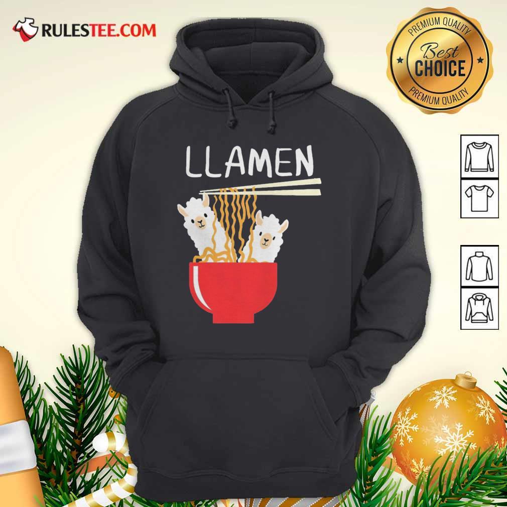 Llama Eat Llamen Hoodie - Design By Rulestee.com