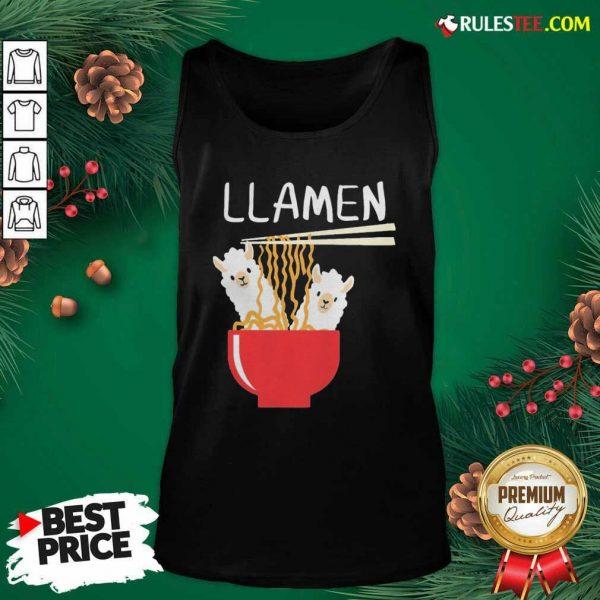 Llama Eat Llamen Tank Top - Design By Rulestee.com