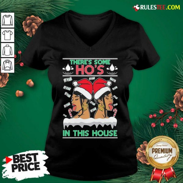 There's Some Hos In This House Unisex V-neck - Design By Rulestee.com
