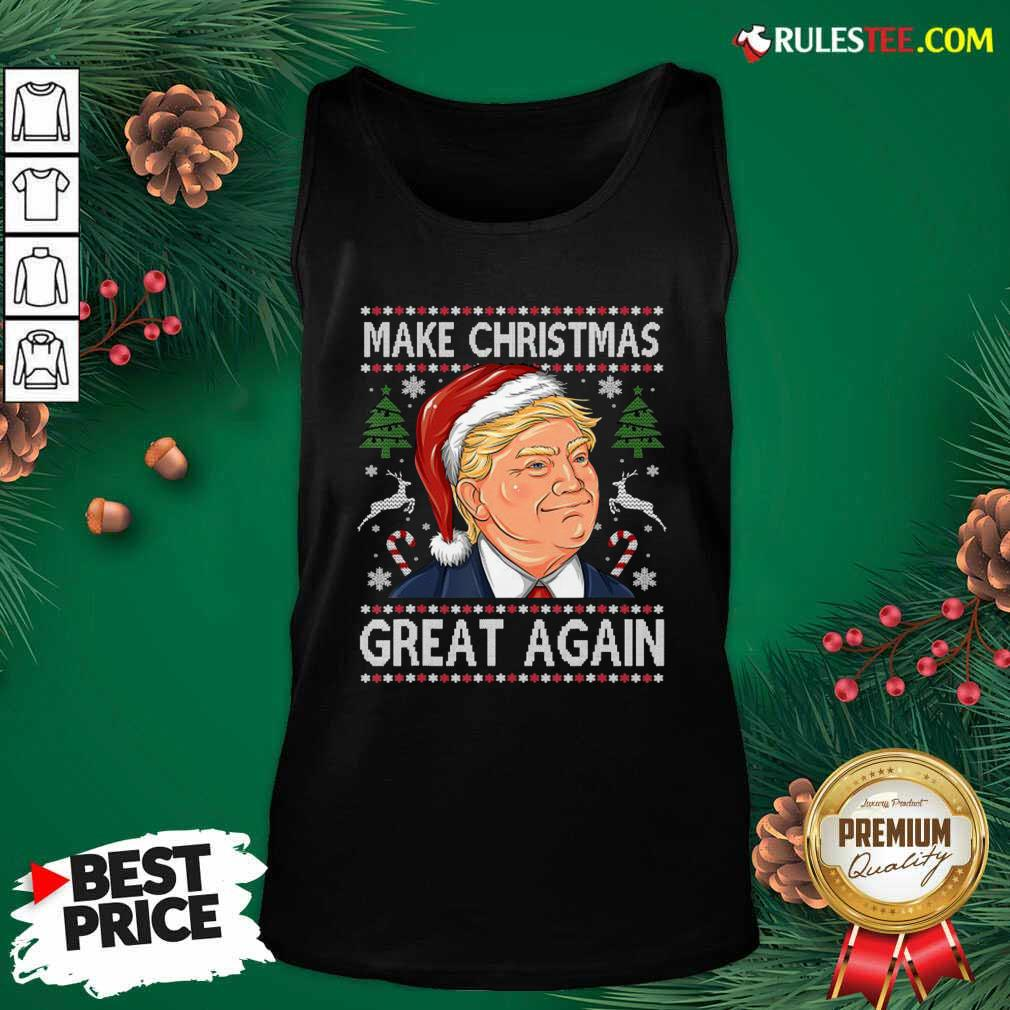 Trump Make Christmas Great Again Christmas Tank Top - Design By Rulestee.com