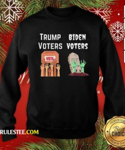 Trump Voters Against Biden Voters Sweatshirt - Design By Rulestee.com