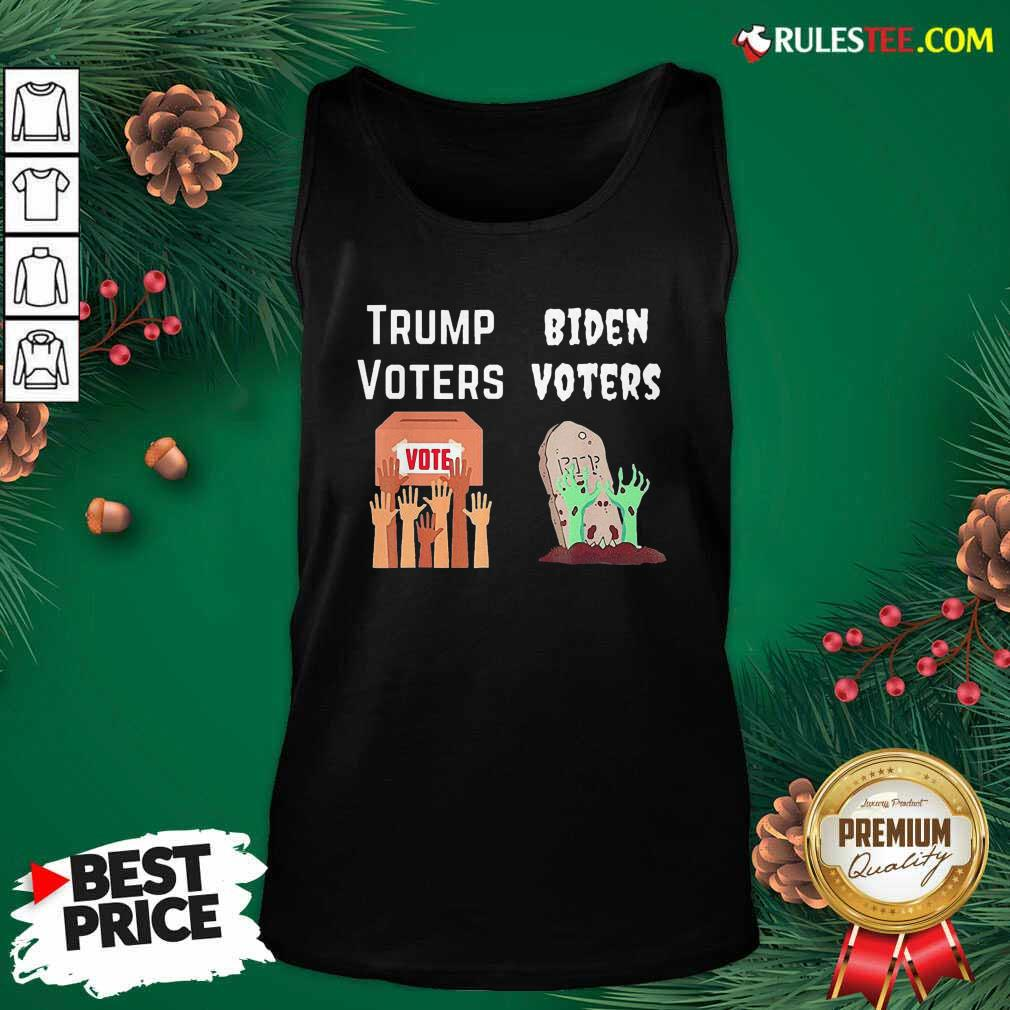 Trump Voters Against Biden Voters Tank Top - Design By Rulestee.com