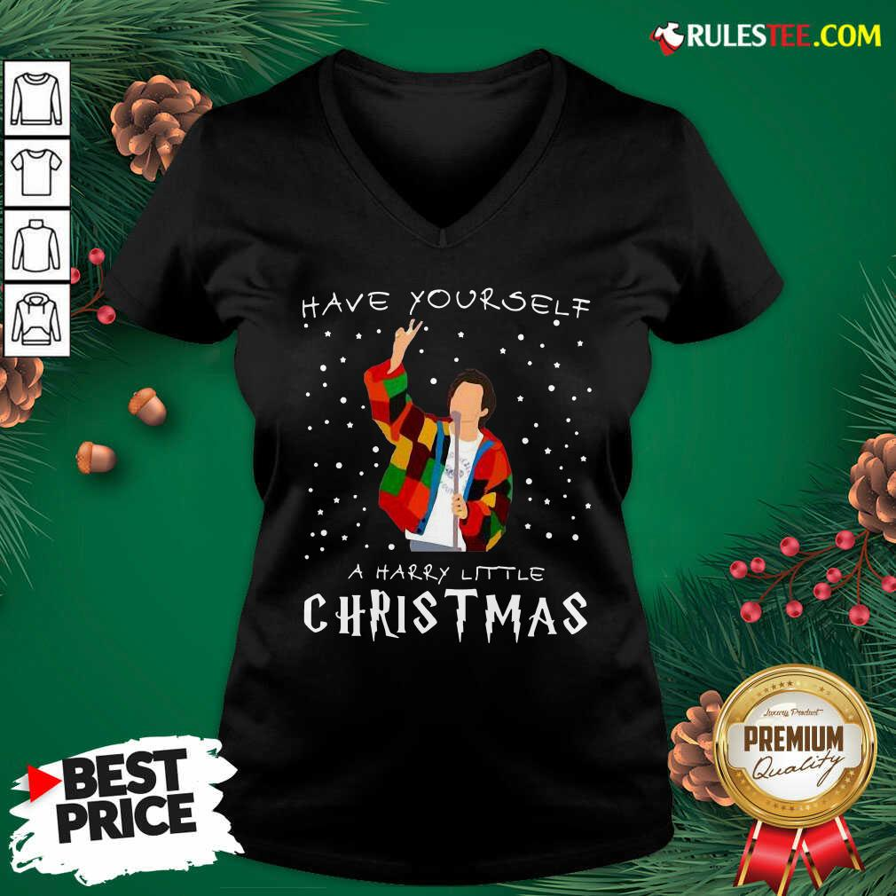Great Awesome Xmas Have Yourself A Harry Styles Christmas V-neck - Design By Rulestee.com
