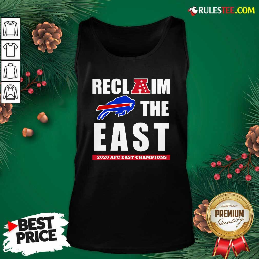 Buffalo Bills Reclaim The East 2020 AFC East Champions Tank Top- Design By Rulestee.com