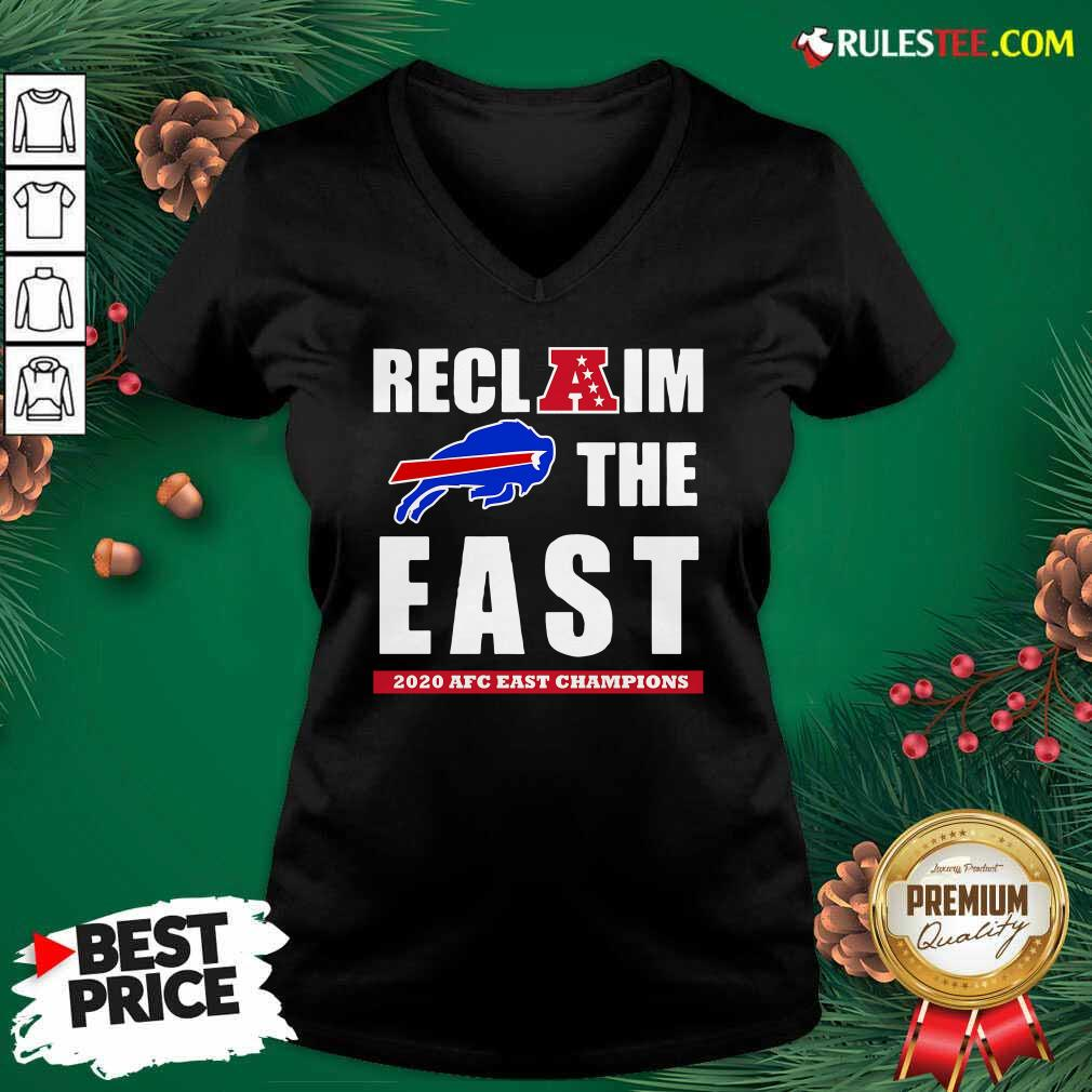 Buffalo Bills Reclaim The East 2020 AFC East Champions V-neck- Design By Rulestee.com