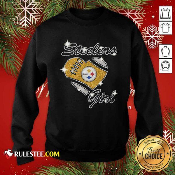 Pittsburgh Steelers Girl Heart Diamond Sweatshirt- Design By Rulestee.com