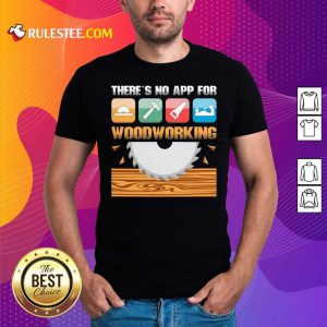There's No App For Woodworking Shirt - Design By Rulestee.com