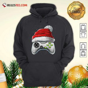 Video Game Controller Santa Hat Christmas Hoodie - Design By Rulestee.com