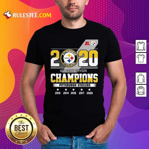 2020 AFC North Division Champions Pittsburgh Steelers Shirt - Design By Rulestee.com
