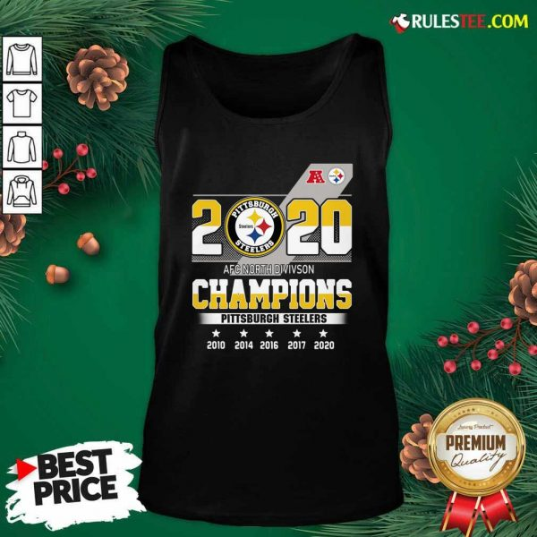 2020 AFC North Division Champions Pittsburgh Steelers Tank Top - Design By Rulestee.com