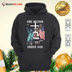 3 Goodwrench Dale Earnhardt One Nation Under God American Flag Hoodie - Design By Rulestee.com