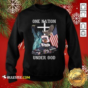 3 Goodwrench Dale Earnhardt One Nation Under God American Flag Sweatshirt - Design By Rulestee.com