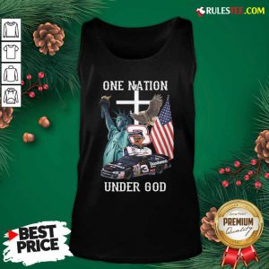 3 Goodwrench Dale Earnhardt One Nation Under God American Flag Tank Top - Design By Rulestee.com