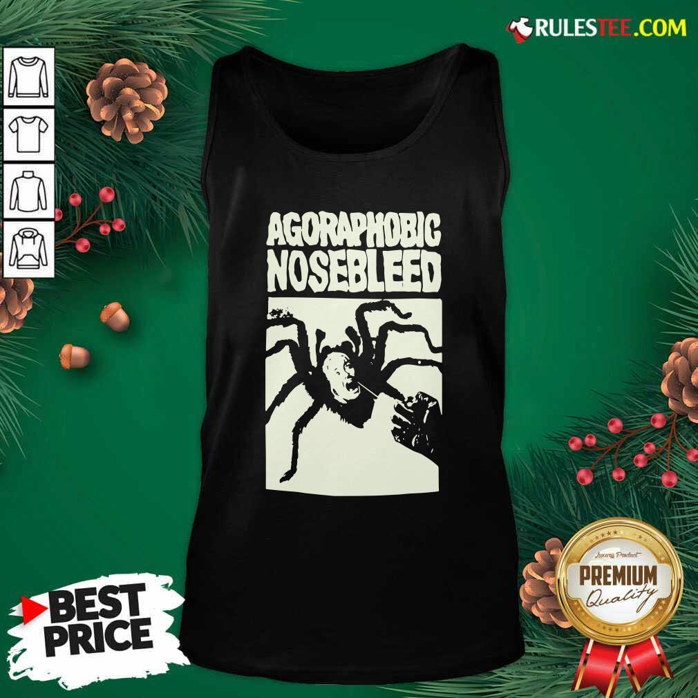 Agoraphobic Nosebleed Spider Tank Top- Design By Rulestee.com