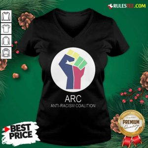 ARC Anti-racism Coalition V-neck - Design By Rulestee.com