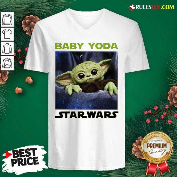 Baby Yoda Star Wars V-neck - Design By Rulestee.com