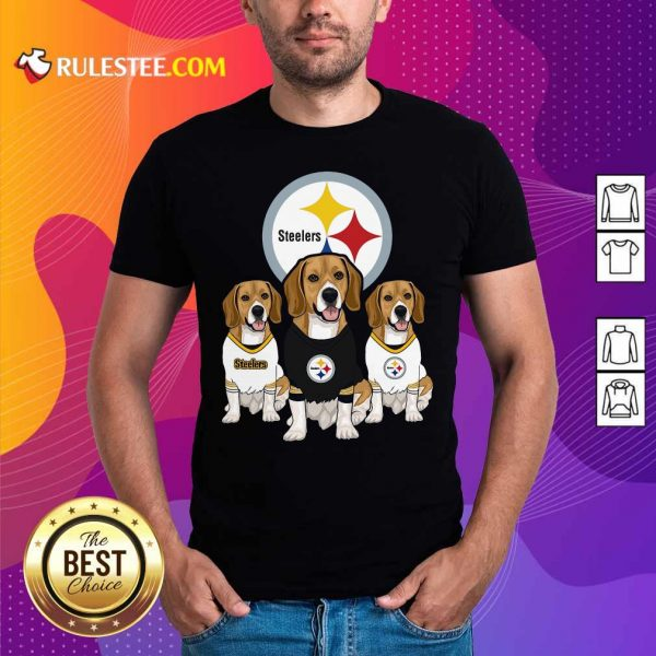 Beagle Pittsburgh Steelers Logo Shirt - Design By Rulestee.com