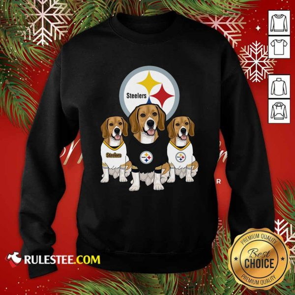 Beagle Pittsburgh Steelers Logo Sweatshirt - Design By Rulestee.com