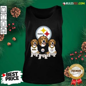 Beagle Pittsburgh Steelers Logo Tank Top - Design By Rulestee.com