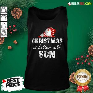 Hot Christmas Is Better With Son Tank Top - Design By Rulestee.com