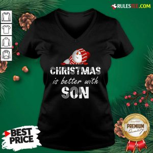 Hot Christmas Is Better With Son V-neck - Design By Rulestee.com