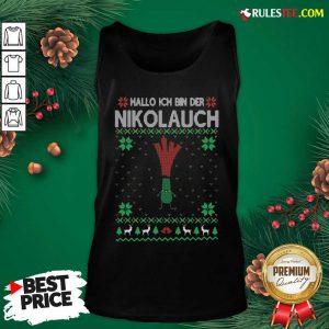 Hot Hallo Merry Christmas Hallo Ich Bin Der Nikolaus Tank Top - Design By Rulestee.com