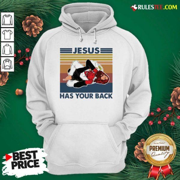 Jiu Jitsu Jesus Has Your Back Vintage Hoodie - Design By Rulestee.com