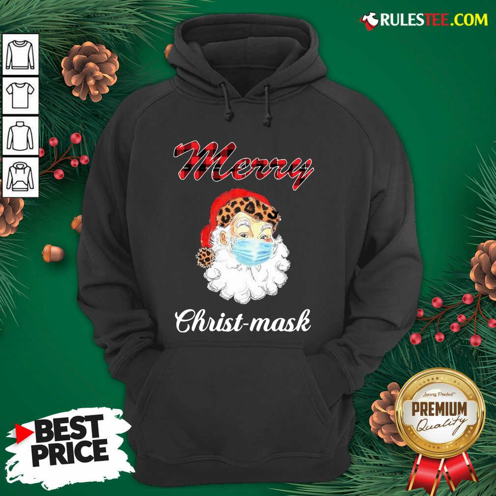 Santa Claus Face Mask Merry Christmas 2020 Hoodie - Design By Rulestee.com