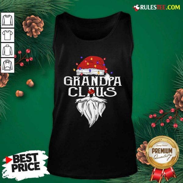 Santa Claus Grandpa Claus Merry Christmas Light Tank Top - Design By Rulestee.com