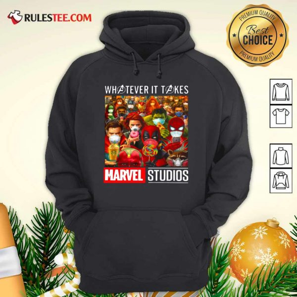 Whatever It Takes Marvel Studios Avengers Face Mask Hoodie - Design By Rulestee.com