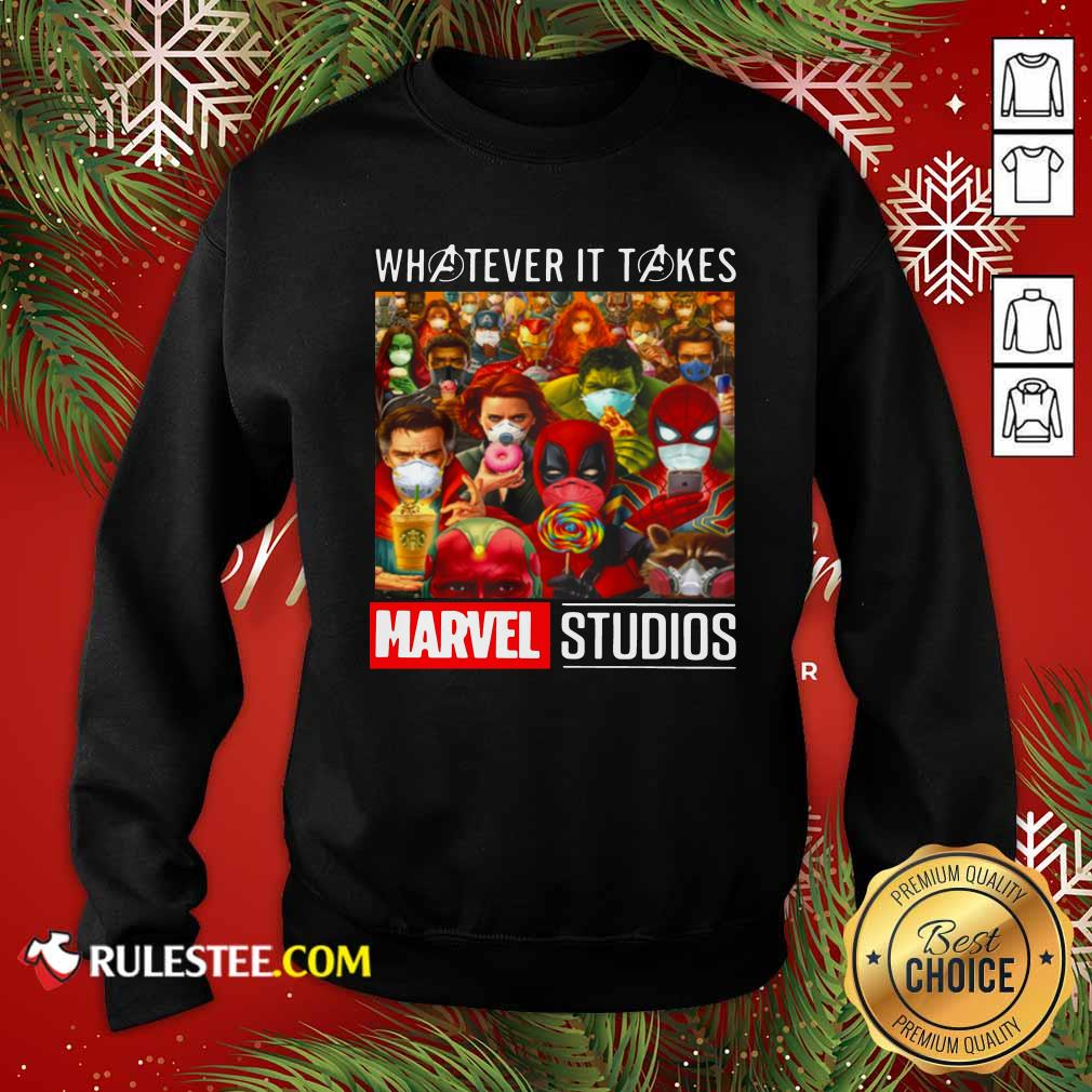 Whatever It Takes Marvel Studios Avengers Face Mask Sweatshirt - Design By Rulestee.com