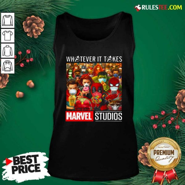 Whatever It Takes Marvel Studios Avengers Face Mask Tank Top - Design By Rulestee.com
